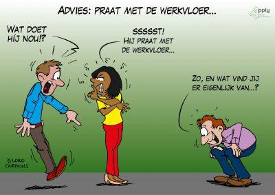 arbo veiligheid bijeenkomst cartoonverslag Loko Cartoons omgeving Nijmegen Arnhem