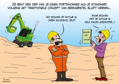 natuurbeheer kwelwater waterschappen landschapsbeheer waterschap live cartooning cartoonverslag Loko Cartoons omgeving Arnhem Nijmegen