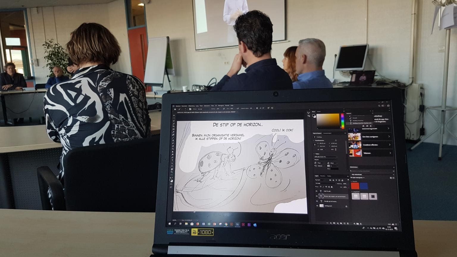 Live cartooning visie-bijeenkomst Werkbedrijf